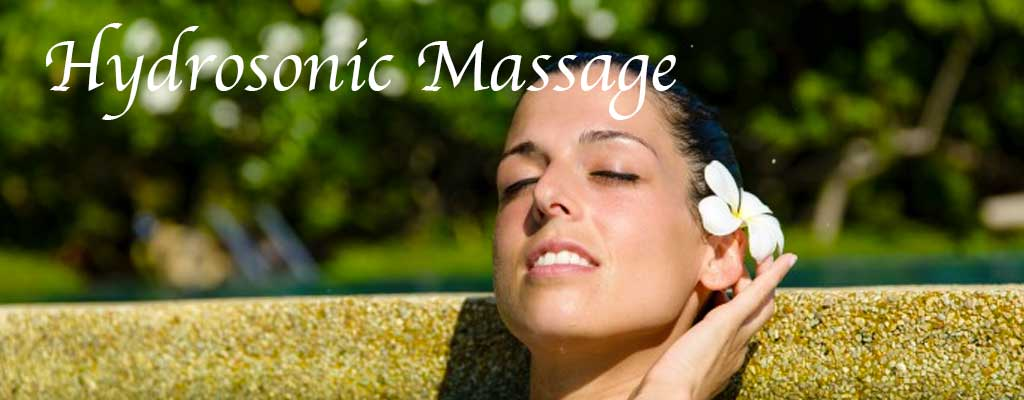 Hydrosonic massage
